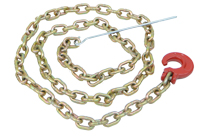 "5/16"" x 8' choker chain w/c-hook and steel rod"