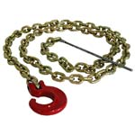 "1/4"" x 7' choker chain w/C-hook and steel rod"